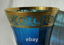 Verre A Pied En Cristal De St Louis Thistle Couleur Roemer Bleu
