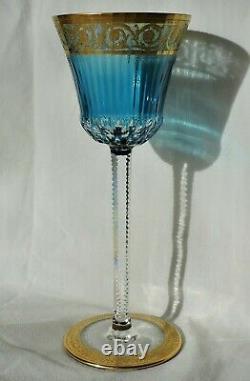 Verre A Pied En Cristal De St Louis Thistle Couleur Roemer Bleu Ciel