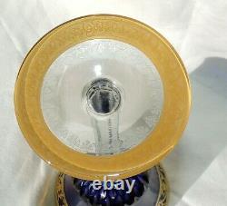 Verre A Pied En Cristal De St Louis Thistle Couleur Roemer Bleu Cobalt