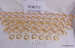 Verre à Porto 13.2mm Saint St Louis Cristal Thistle Or signé parfait état