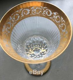 Verre à eau Cristal et dorure Saint Louis Modèle Thistle