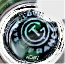 Verre à vin du Rhin Roemer en cristal de St Louis Jersey signé C. G. T. Paquebot A
