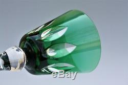 Verre à vin du Rhin Roemer en cristal de St Louis Jersey signé C. G. T. Paquebot E