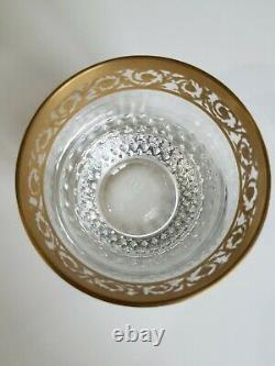 Verre a whisky en cristal de Saint Louis modèle Thistle Or