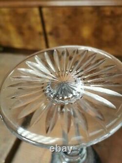 Verre cristal Saint Louis modèle Tommy roemer vin du Rhin 19,8cm couleur bleu