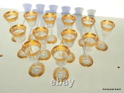 Verre liqueur pied ajouré 105mm Saint St Louis Cristal Thistle Or signé parfait