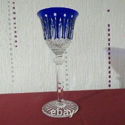 Verre roemer en cristal de saint louis tommy de couleur bleu H 19,6 cm lot 2