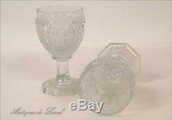 Verres à Pied en Cristal de Saint-Louis ou Baccarat, XIXe