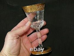 Verres en cristal de Saint Louis model Thistle verre a porto Thistle